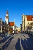 Widok stary urząd miasta w Monachium Fotografia Stock