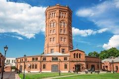 Widok stary wieża ciśnień budynek, &-x22; Wszechświat Water&-x22; muzealny kompleks Vodokanal St St Petersburg Zdjęcie Stock