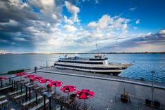 Widok statek dokował przy Harbourfront w Toronto, Ontario Zdjęcie Stock