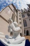 Widok statua lokalizować w wewnętrznym jardzie Albrechtsburg kasztel w Meissen, Niemcy Obraz Royalty Free