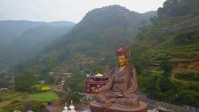 Widok statuy świątynia Guru Padmasambhava, Kathmandu dolina Nepal, Październik, - 16, 2017 zbiory