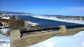 Widok StLaurent rzeka zdjęcie royalty free