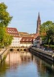 Widok Strasburska katedra w Małym Francja terenie fotografia royalty free