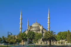 Widok sułtanu Ahmed meczet, Istanbuł zdjęcie royalty free
