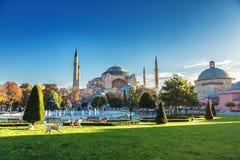 Widok Sultanahmet kwadrat z Hagia Sophia Obrazy Stock