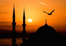 Widok Sultanahmet nocą, Istanbuł Fotografia Stock