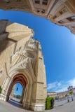 Widok swoboda kwadrat, Maryjny kościół i starzy budynki, Novi Obrazy Stock