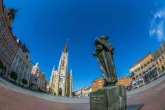 Widok swoboda kwadrat w Novi Sad, Serbia Zdjęcie Royalty Free