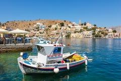 Widok Symi wyspa, Dodecanese, Grecja Fotografia Stock