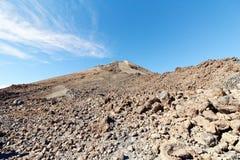 Widok szczyt Mt Teide, Tenerife, Hiszpania Obrazy Stock