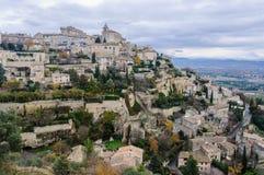 Widok szczyt wioska Gordes, Provence, Francja Fotografia Stock
