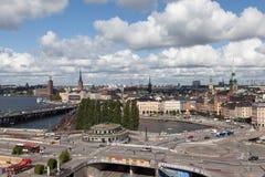 Widok Sztokholm od punktu obserwacyjnego Katarina ksyka Szwecja Zdjęcie Stock