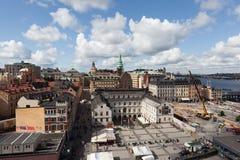 Widok Sztokholm od punktu obserwacyjnego Katarina ksyka Szwecja Obrazy Stock