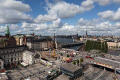 Widok Sztokholm od punktu obserwacyjnego Katarina ksyka Szwecja Fotografia Stock