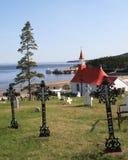 Widok Tadoussac, Quebec, Kanada zdjęcia stock