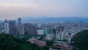 Widok Taipei miasto z wierzchu słoń góry fotografia stock