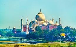 Widok Taj Mahal od Agra fortu Uttar Pradesh, India Obraz Stock