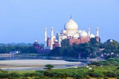 Widok Taj Mahal od czerwonego fortu Obrazy Stock