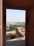 Widok Taj Mahal od fortu Agra, Północny India Obraz Royalty Free