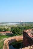 Widok Taj Mahal od fortu Agra, Północny India Obrazy Stock