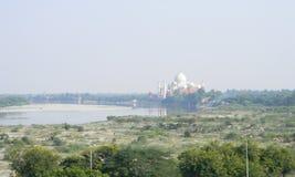 Widok Taj Mahal od fortu Agra, Północny India Zdjęcia Stock