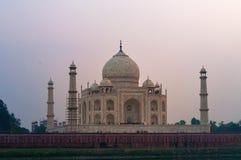 Widok Taj Mahal od Mehtab Bagh przy zmierzchem Zdjęcia Stock