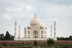 Widok Taj Mahal od Mehtab Bagh uprawia ogródek Obrazy Stock