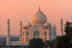 Widok Taj Mahal przy zmierzchem w Agra, Uttar Pradesh, India Obrazy Royalty Free