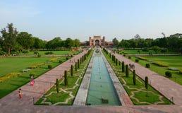 Widok Taj Mahal w Agra, India Obrazy Royalty Free