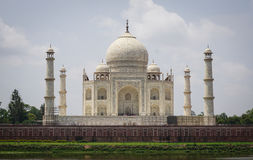 Widok Taj Mahal w Agra, India Obraz Stock