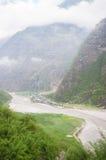 Widok Tal, Annapurna ślad, Nepal Fotografia Stock