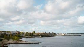 Widok Tallinn od starego Linnahall w zimnym jesień dniu Zdjęcia Royalty Free