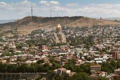 Widok Tbilisi, kapitał Gruzja kraj Widok od Narikala obrazy royalty free
