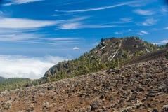 Widok Teide od Volcanoes wysyła los angeles Palma, Hiszpania Obraz Royalty Free