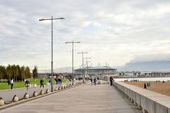 Widok 300th rocznica park stadium zenitu arena i Zdjęcia Stock