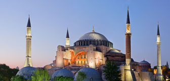 Widok theHagia Sofia przy nocą w Istanbuł, Turcja Zdjęcia Stock
