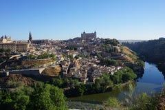 Widok Toledo i Tajo rzeka Fotografia Stock
