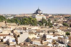 Widok Toledo miasto i poprzedni Tavera szpital zdjęcie royalty free