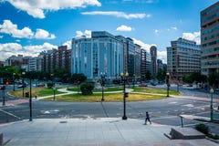 Widok Tomasowski okrąg w Waszyngton, DC zdjęcie stock