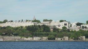 Widok Topkapi pałac od Bosphorus zbiory wideo