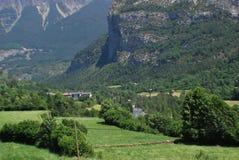 Widok Torla, Huesca Spain Zdjęcie Royalty Free