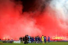 Widok Toumba stadium pełno fan paok Zdjęcia Stock