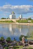 Widok trójcy katedra i podwórze restauracyjny Hu obrazy royalty free