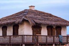 Widok tradycyjny dom cossack rodzina obraz stock