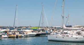Widok Troia Marina z swój luksusowymi łodziami fotografia royalty free