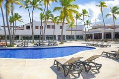 Widok tropikalny kurort w Punta Cana, republika dominikańska obraz royalty free