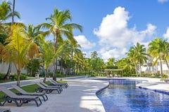 Widok tropikalny kurort w Punta Cana, republika dominikańska zdjęcia stock