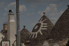 Widok Trulli Alberobello Obraz Stock