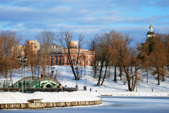 Widok Tsaritsyno park w Moskwa Zdjęcia Royalty Free