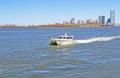 Widok turystyczny ferryboat na hudsonie Zdjęcie Royalty Free